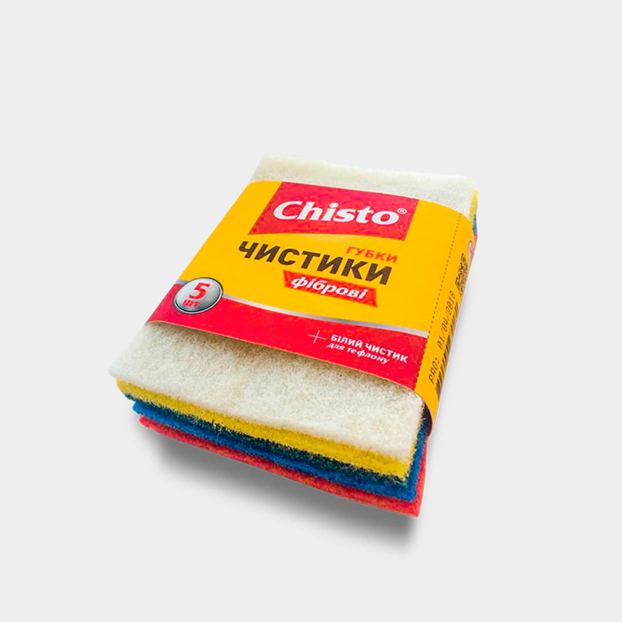 Чистики фіброві ТМ «Chisto», 5 шт.