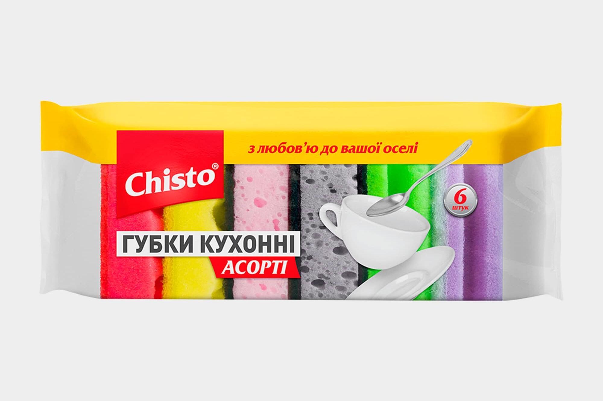 Губки кухонні Асорті ТМ «Chisto», 6 шт.