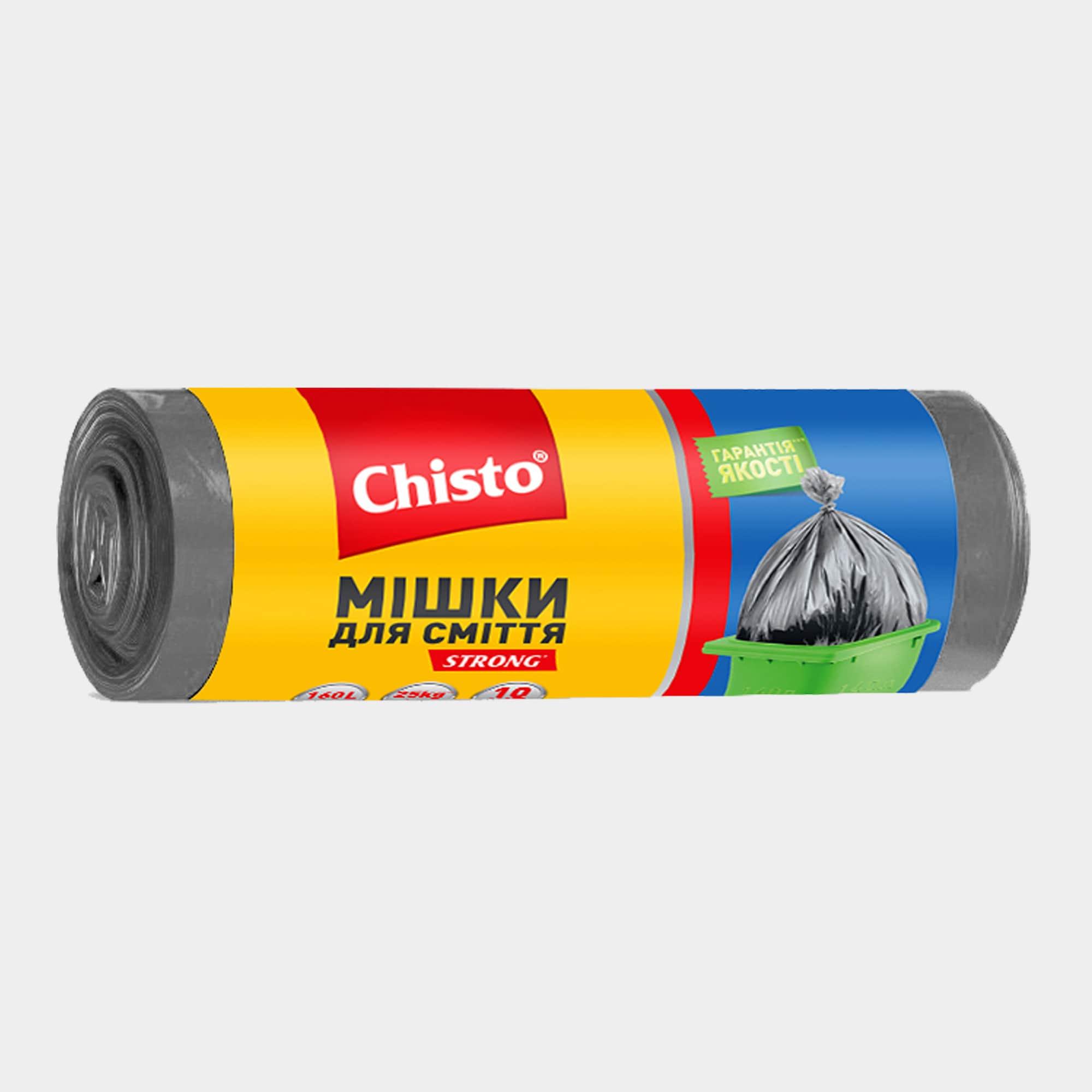 Мешки для мусора, 160л х 10шт. | Продукция ТМ Chisto