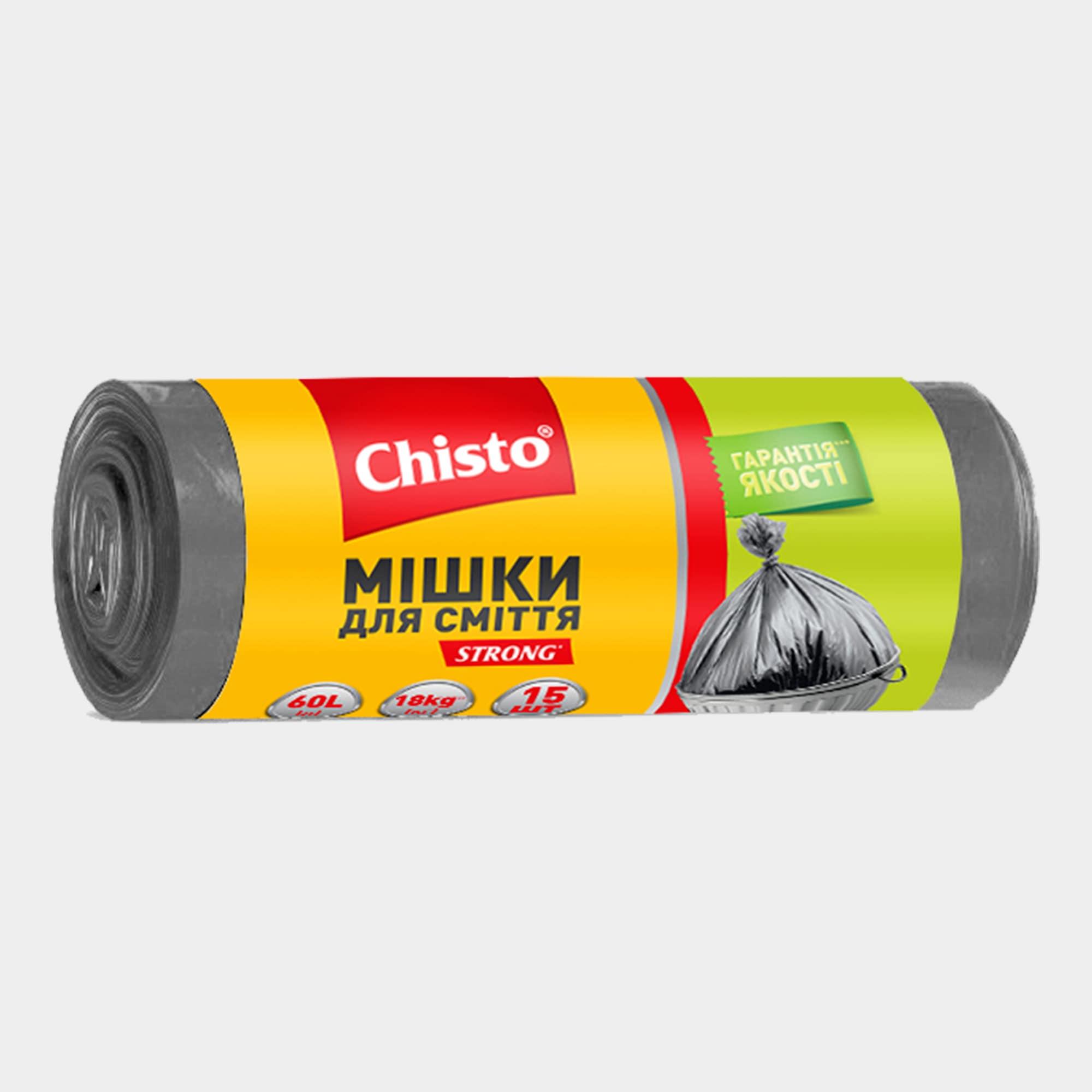 Мешки для мусора, 60л х 15шт. | продукция ТМ Chisto
