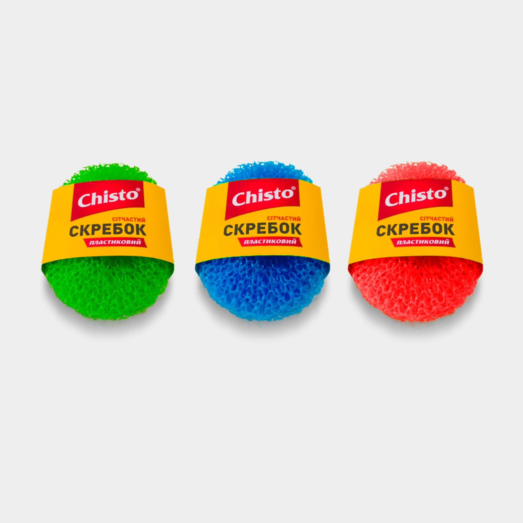 Скребок пластиковый сетчатый ТМ «Chisto», 1 шт. | Продукция ТМ Chisto